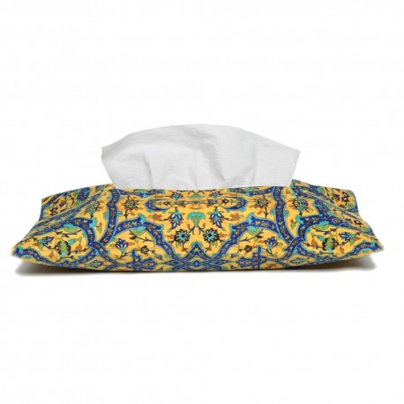 کاور دستمال کاغذی فرش کاشی زرد