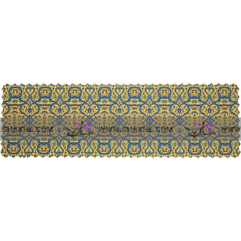 رانر فرش کاشی زرد