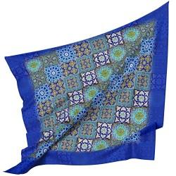 روسری چند کاشی آبی