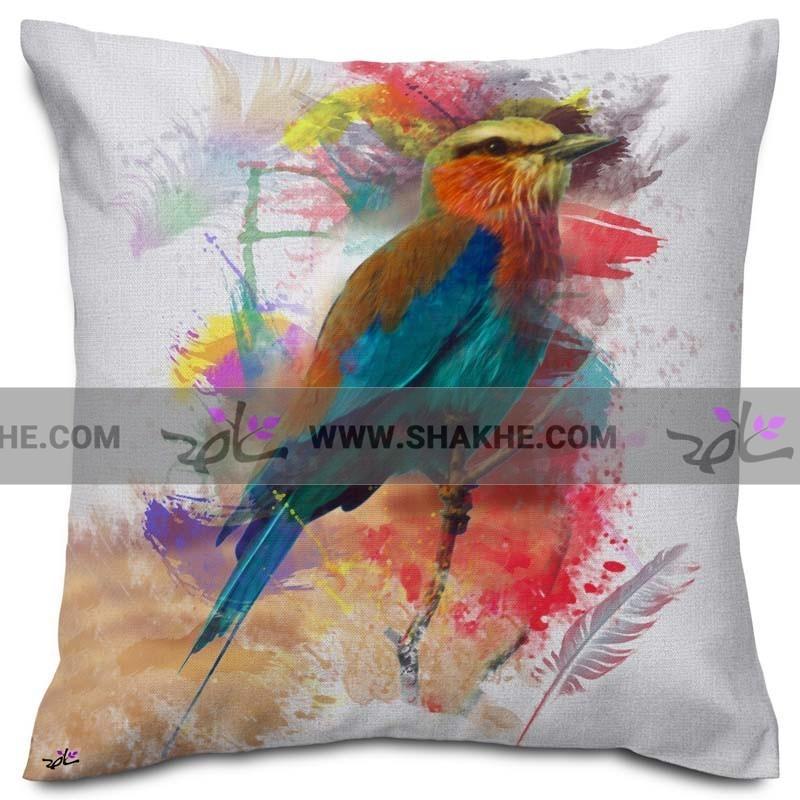 کوسن نقاشی پرنده