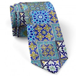 کراوات چند کاشی آبی