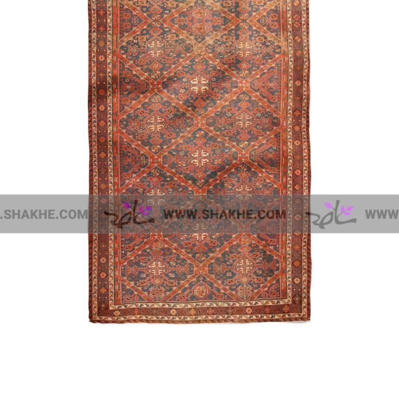 دستمال گردن فرش سرمه ای قرمز