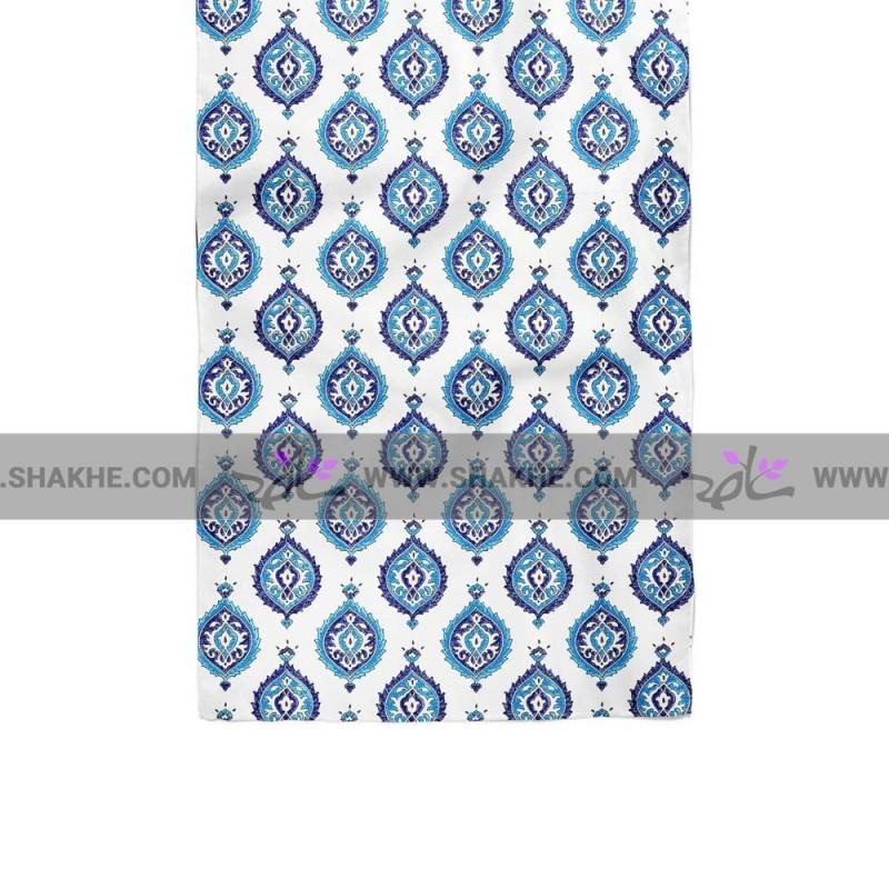 دستمال گردن سفید آبی