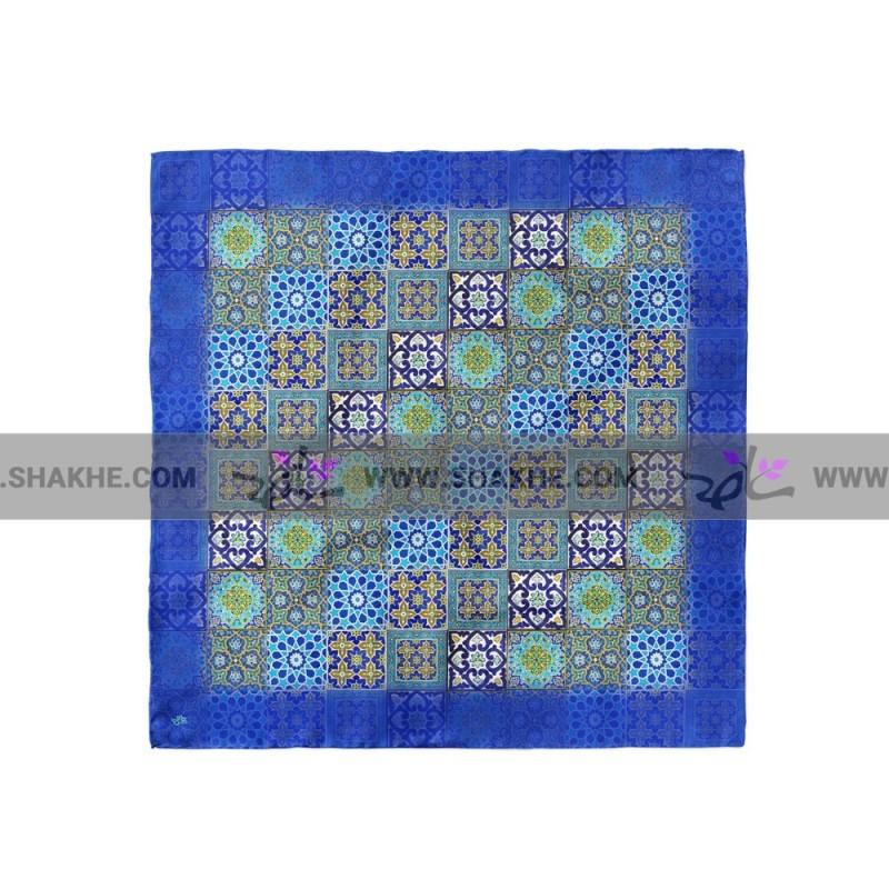 پوشت (دستمال جیب) چند کاشی آبی