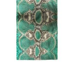 دستمال گردن پوست ماری سبز