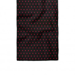 دستمال گردن دورو خال خال قرمز