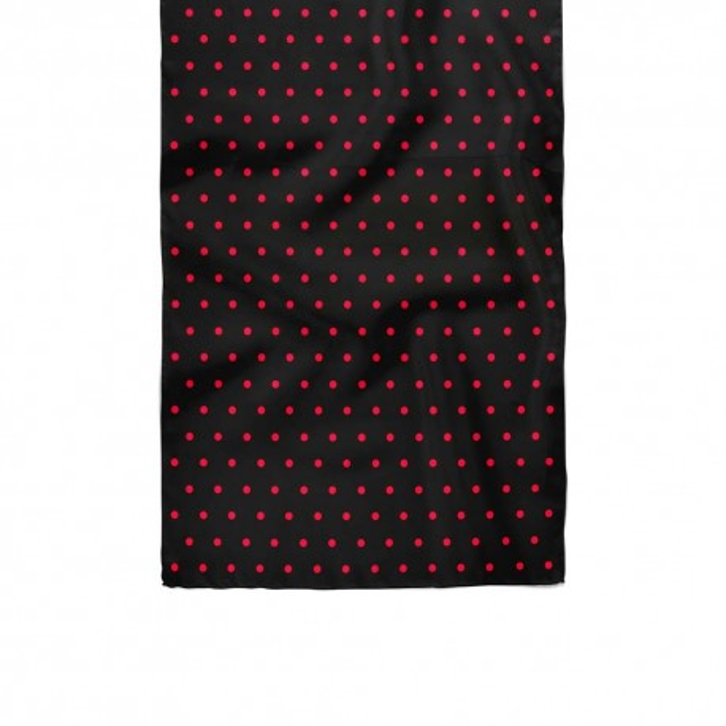 دستمال گردن خال خال قرمز