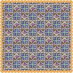 رومیزی مخمل مربع گلستان