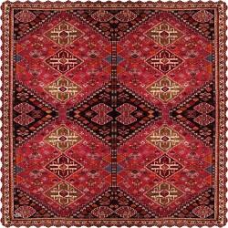 رومیزی مخمل مربع فرش قشقایی